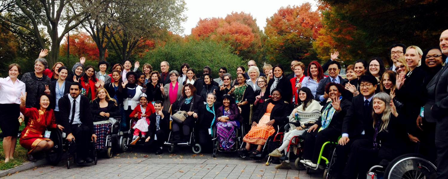MIUSA staff with professionals with disabilties from 20 different countries