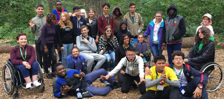 Group of student's at Spencer's Butte Challenge Course