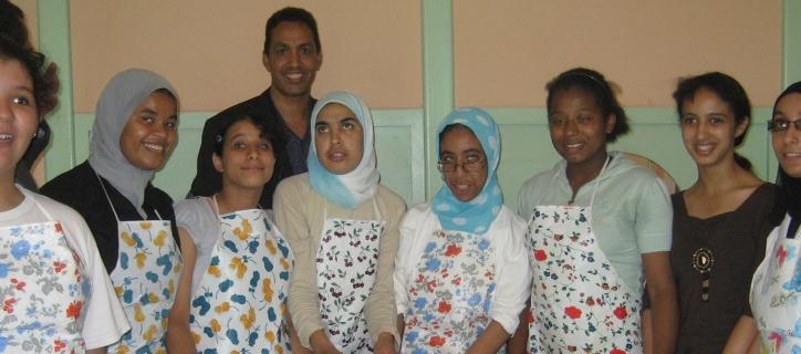 Group of Blind Moroccan girls