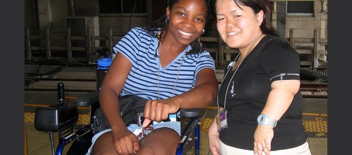 Ethnically diverse study abroad students with disabilities