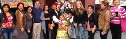 Antonia with members of a local migrant women's group during a celebration