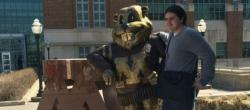 Lucas with University of Minnesota golden gopher mascot
