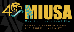 """Black background with large yellow """"MIUSA"""" text to the right of a 40th anniversary logo."""