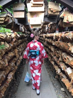 Missing wearing traditional Japanese clothes at shrine