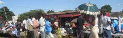 Busy street in Zambia