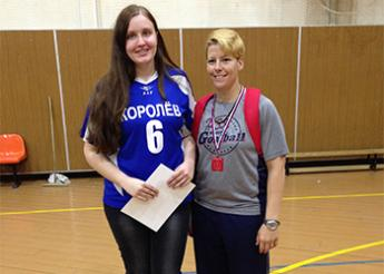 Asya with the youngest Russian goalball national team player