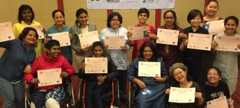 Group photo of WILD Asia delegates holding certificates of completion