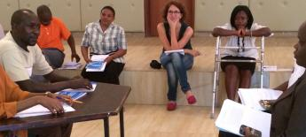 Role play exercise at a disability rights training in Kenya