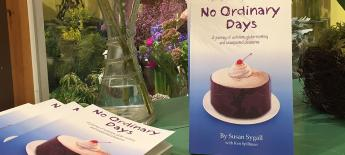 """Table display of """"No Ordinary Days"""" books."""