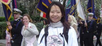Wei at a parade