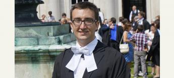 Paul Monroe graduating from University of Cambridge