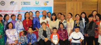 Members of Team Mongolia with training attendees