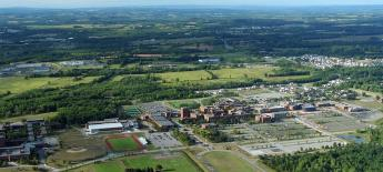 An aerial view of the RIT campus